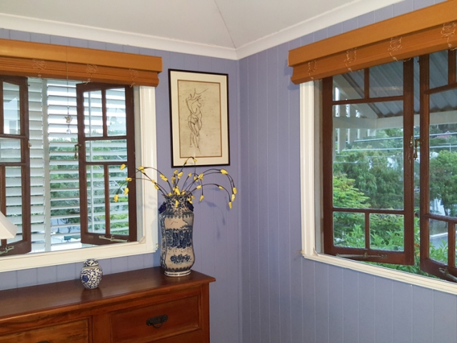 Casement windows fitted with Magnetic Insect Screens  by Brisbane Magnetic Screens.