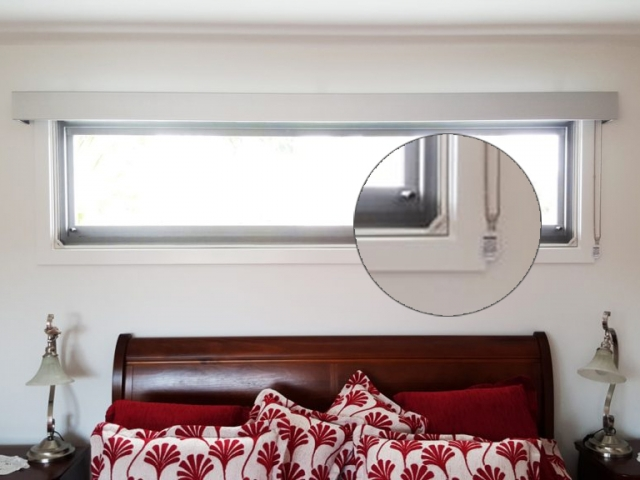 Magnetic Insect Screens for the Bedroom Double Hung Window by Brisbane Magnetic Screens