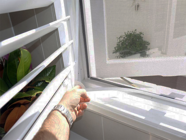 Retrofit Magnetic Insect 🦗Screens behind your Shutters. The screens wont' detract from the look of the beautiful shutters or the view out the window.